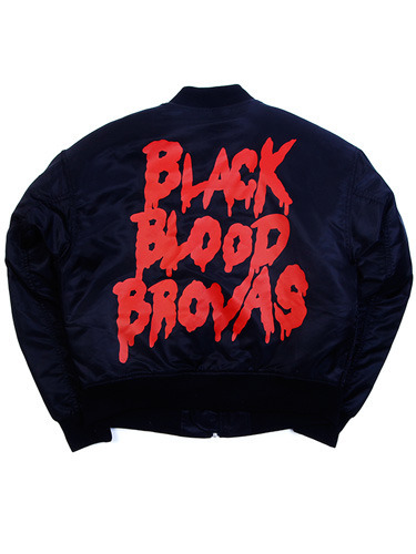 BLACK BLOOD BROVAS MA-1 [BLACK]