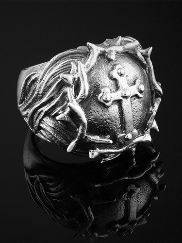 JESUS HEAD KROSS RING