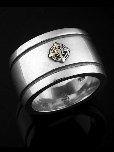 ALPHA OMEGA BAND RING