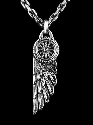 WHEEL WING PENDANT