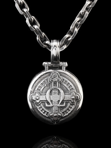 ALPHA OMEGA LOCKET PENDANT