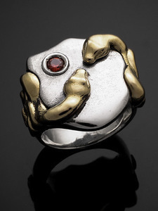 SNAKE SHIELD RING